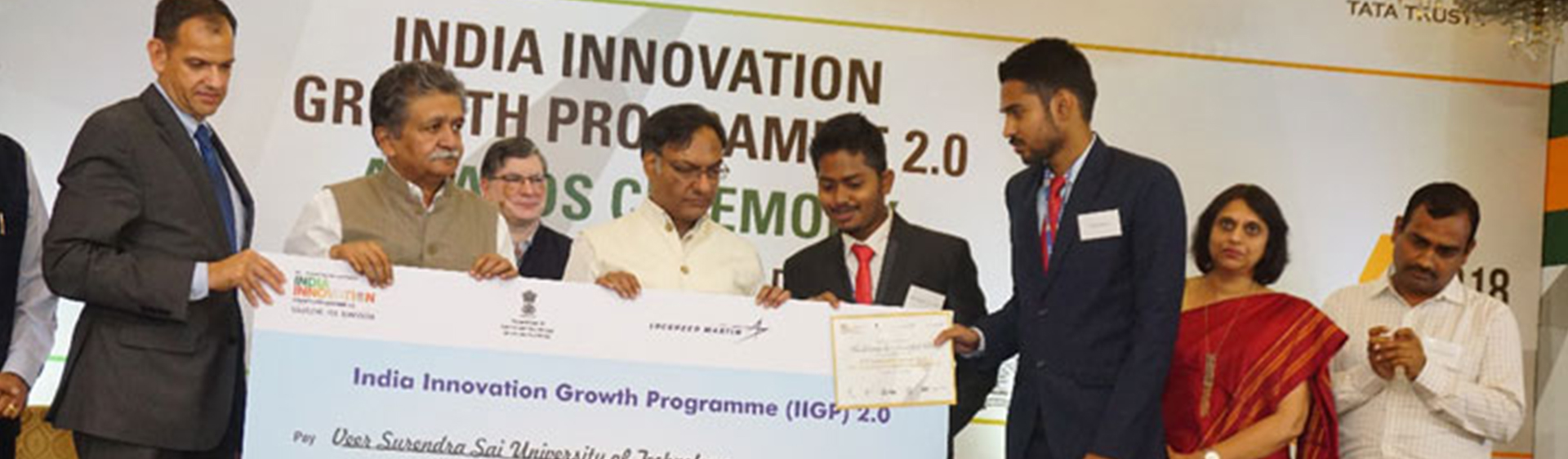 winners of University Challenge, India Innovation Growth Programme 2.0, by DST, Government of India,  2nd August 2018 in New Delhi