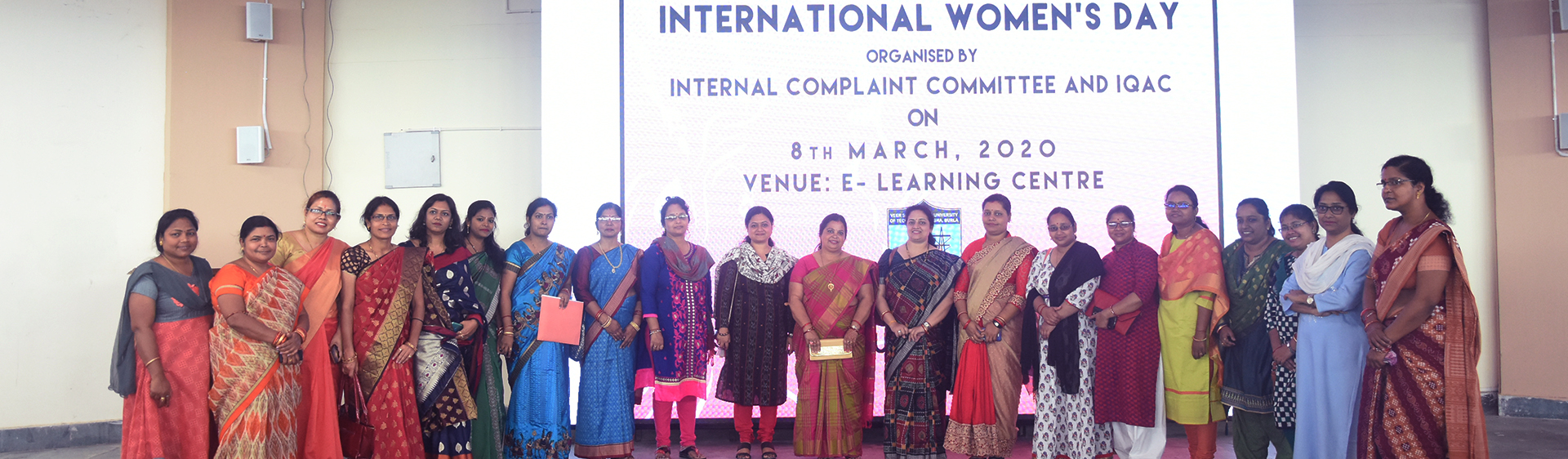 International Women's day has been celebrated at VSSUT,Burla on 8th March 2020 in presence of Vice-Chancellor in-charge Prof.P.K.Hota.,Dr. Sunanda Nayak,VIMSAR,chief guest.Mr.Amaresh Panda,additional Superintendent of Police.