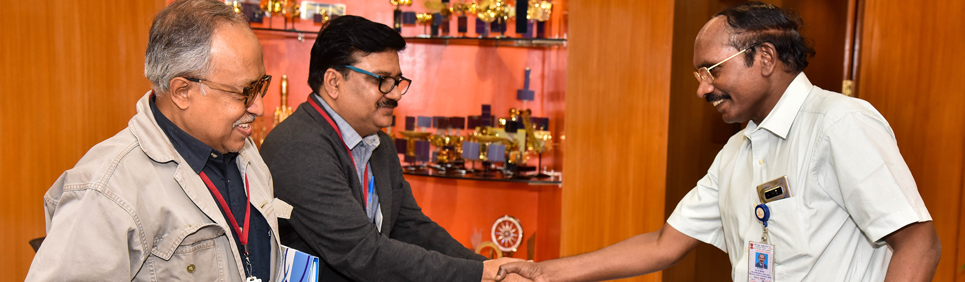 Meeting and interaction with Dr. K Sivan, chairman ISRO at ISRO Headquarters, Bangalore